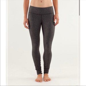Lululemon Herringbone Wunder Under Leggings Gray 8